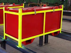 Caixa de Embarque SKID Cestas Container